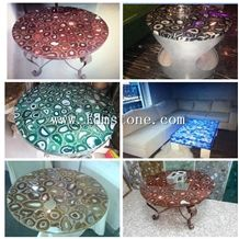 Red Agate Semiprecious Table Top, Kitchen Products