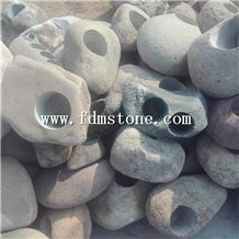 Round Coloful Indoor Large Tree Cheap Small Stone Garden Flower Pot,Creative Pebblestone Pots