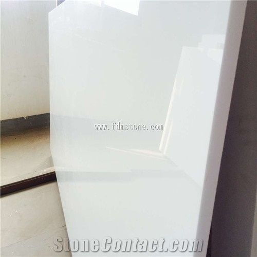 Super White Artificial Stone Marble Slab Man Made Pure