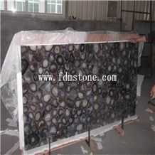 Translucent Solid Surface Countertop Slab Artificial Stone Black Onyx Walling and Floor Tiles