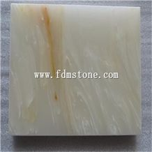 White Artificial Onyx Slab and Tiles