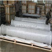 White Sesame Granite Stone Roman Solid Column for Sale