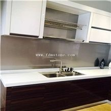 White Stone Artificial Marble Countertop for Table &Kitchen Top