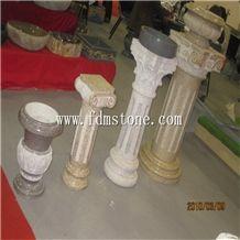 Yellow Granite G682 Columns Molds, Stone Columns, Decorative Exterior Column