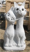 Garden Decoration Stone Animal Sculptures Landscpae Cat