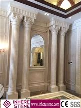 White Marble House Pillars Design, Roman Pillars Column Molds for Sale