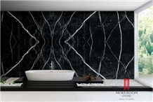 Bookmatch Spain Black Marquina Marble Slab