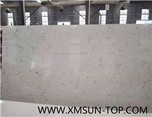 Carrara White Quartz Stone Big Slabs&Gangsaw Slab&Customized/Carrara White Engineered Stone/White Artificial Quartz with Grey Veins/White Manmade Stone/China Quartz Stone for Flooring&Wall Covering