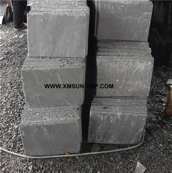 Chinese Gray Black Slate Tile Cut To Size China Light Grey