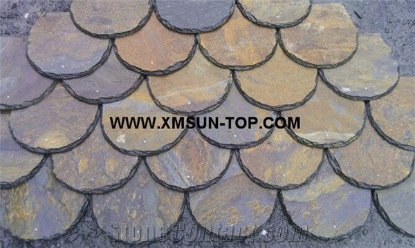 Chinese Rusty Roof Slate Tile With Fish Scale Type Slate Roofing Slate Roofing Tiles Rust Slate Roof Tiles Rust Slate Tile Roof Fish Scale Roof Covering And Coating Stone Roofing From China Stonecontact Com
