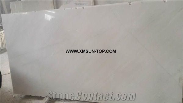 Polished chinese snow white marble big slabs tiles gangsaw slabs
