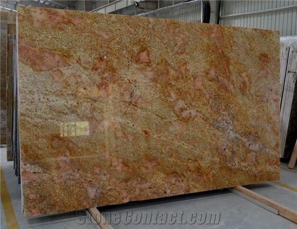 Modne ubrania Imperial Gold/ Golden Oak Granite Full Slabs from India UC29