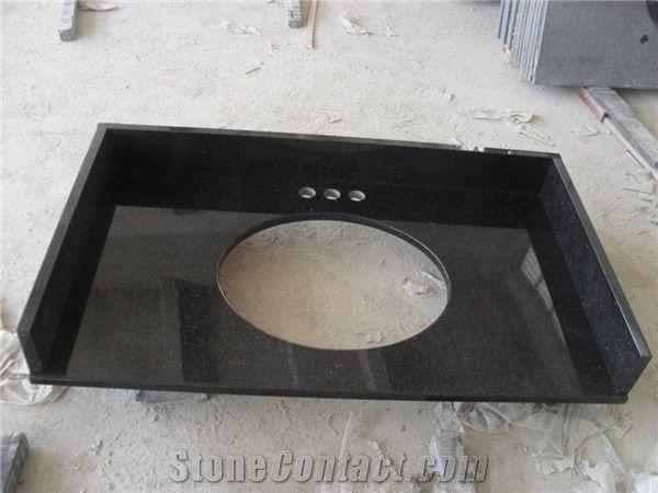 Popular Black Granite Black Galaxy Granite With Small Gold