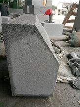 Sesame White Granite 603 Curbstone, China Grey Granite,Crystal Grey,G603 Kerbstone,Gamma Bianco,Gamma White,Ice Cristall,Jinjiang Bacuo White,Jinjiang G603,Jinjiang White Granite /Huian 603