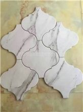 Carrara Lantern Pattern Mosaic/Italy Carrara White Marble Mosaic/Design Beautiful Stone Mosaic/Polished Nice Design Interior Stone Mosaic Tile/Natural Marble Stone Mosaic