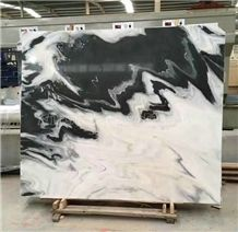 China Panda White Marble Tile & Slab/Dalmata Marble/Mountain White Marble/China White Marble/Black & White Marble Big Slabs/Chinese Marble/Hot Sale Marble/New Polished Best Price Marble Tiles