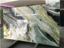 Chinese New Polished Dreaming Green Marble Slabs & Tiles/Marble Skirting/Marble Opus Pattern/Marble Floor Covering Tiles/Marble Big Slabs/China Green Marble Block/Green Marble Tiles/Best Price Marble