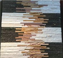High Quality Multicolor China Slate Tiles/Nature Cultured Stone Panel/Wall Panel/Ledge Stone/Veneer/Stacked Stone for Wall Cladding/Decorative Format Tile/Feature Wall/Corner Stone/Ledge Stone