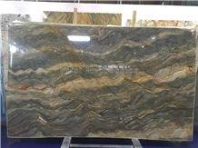 Hot Sale Golden Silk Quartzite/Golden Silk Slabs & Tiles/Silk Road Quartzite Cut to Size/Luxury Yellow Natural Quartzite/High Grade & Good Price Slabs/Brazil Yellow Quartzite