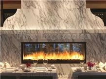 Italy Bianco Statuario Marble Countertops/Kitchen Bar Top Kitchen Worktops/Kitchen Countertops/Kitchen Desk Tops/Custom Countertops Bathroom Tops with Polished for Home Decoration High Quality