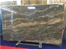 New Polished Golden Silk Quartzite/Golden Silk Slabs & Tiles/Silk Road Quartzite Cut to Size/Luxury Yellow Natural Quartzite/High Grade & Good Price Slabs/Hot Sale Quartzite