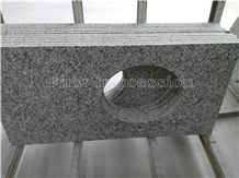 New Swan White Granite Counter Tops/Granite Reception Counter/Stone Reception Desk/Work Tops/Solid Surface Table Tops/Square Table Top/Best Price & High Quality Kitchen Top/Hot Sale/China Granite Top