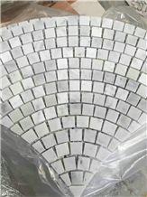 Statuario Carrara Grey & White Marble Mosaic/Design Beautiful Stone Mosaic/Polished Nice Design Interior Stone Mosaic Tile/Natural Marble Stone Mosaic/Hot Sale Mosaic/Beautiful Flower