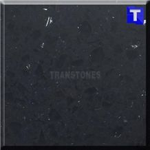 Black Marble Slab Artificial Quartz Stone