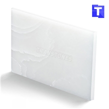 China Snow White Artificial Alabaster Resin Backlit Panel