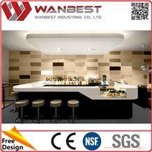 modern bar restaurant cashier counter customized artificial marble sushi bar counter