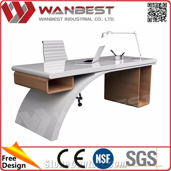 Special Design Solid Surface Executive Office Desk With Locking Drawers  Computer Table Design With Study Table