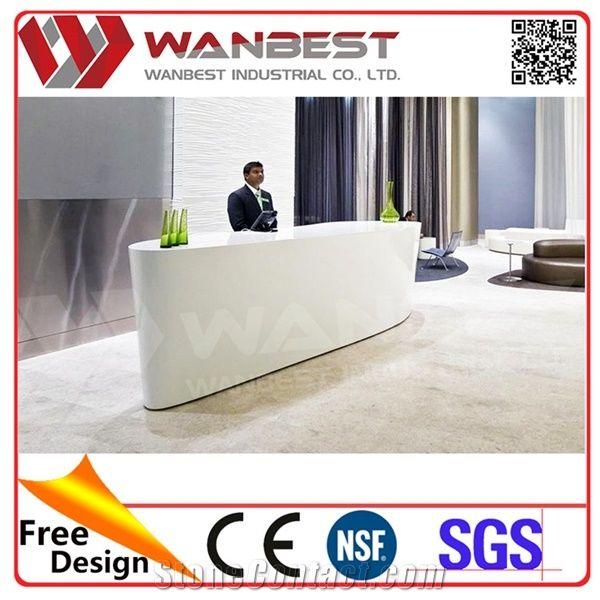 Standing Reception Desk Modern Office Reception Counter Design