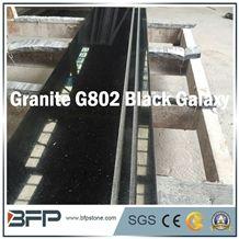 Black Granite Step & Riser & Tread for Staircase