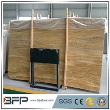 Emperor Saffron Travertine,Saffron Gold Travertine,Golden Travertine Slabs,Polished Travertine Floor Tiles