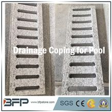 G602 Grey Granite, G602 Cloudy Grey Granite, Flamed Surface for the Swimmming Pool Coping