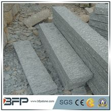 G603 Luner Pearl Grey Granite Palisade,Rough Picked Pineapple Surface, Exterior Garden Stone, Landscape Stone Fence