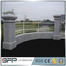 Granite Gate Pillar, Grey Granite Column, G603 Gate Post