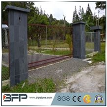 Granite Sesame Black G654 Palisade, Pineappled Palisade, G654 Grey Granite Gates, Fence