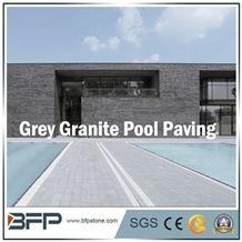 Grey Granite Slabs&Tiles for Swimming Pool, Honed Surface