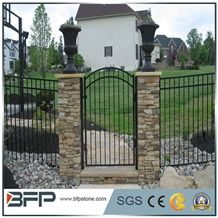 Grey Slate Cultured Stone Gate Post,Ledge Stone,Stone Veneer, Corner Stone