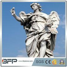 Handcarved Angel Sculpture, Human Sculpture Garden Sculpture, Landscape Sculpture