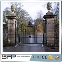 Ledge Slate Decorative Gate Post, Ledger Slate Decorative Gate Pillar