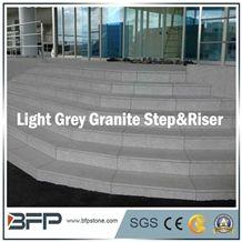 Light Grey Granite Step & Riser & Tread for Staircase