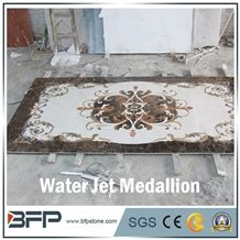 Marble Medallion, Marble Water Jet Medallion or Water Jet Pattern, Floor Medallion, Rosettes Medallion for Wall Tile and Floor Tile in Hall or Living Room