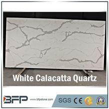 Marble Quartz Stone,Calacatte White Quartz Stone,Quartz Slabs,White Calacatta Quartz Slabs