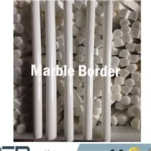 Marble Skirtings, Marble Border, Polished White Marble Border Decos