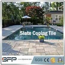 Natural Slate Tile for Swimming Pool, Natural Surface,Irragular Sizes