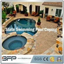 Natural Slate Tiles with Different Dimension for Swimming Pool Coping/Swimming Surrounding