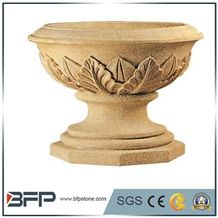 Planter Pots,Flower Pot, Granite Carved Flower Pot, Flower Stand, Exterior Flower Vase for Garden