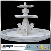 Water Features, White Fountains, Classic Style, Antique Shape, Exterior Fountains
